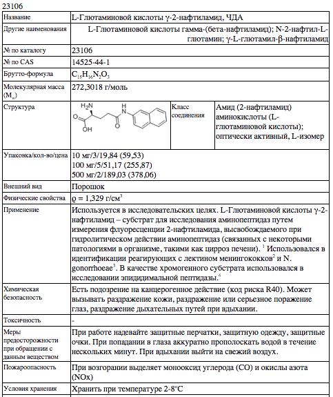 глютаминовая таблица